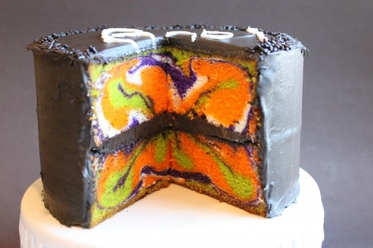 Halloween Marbled Cake