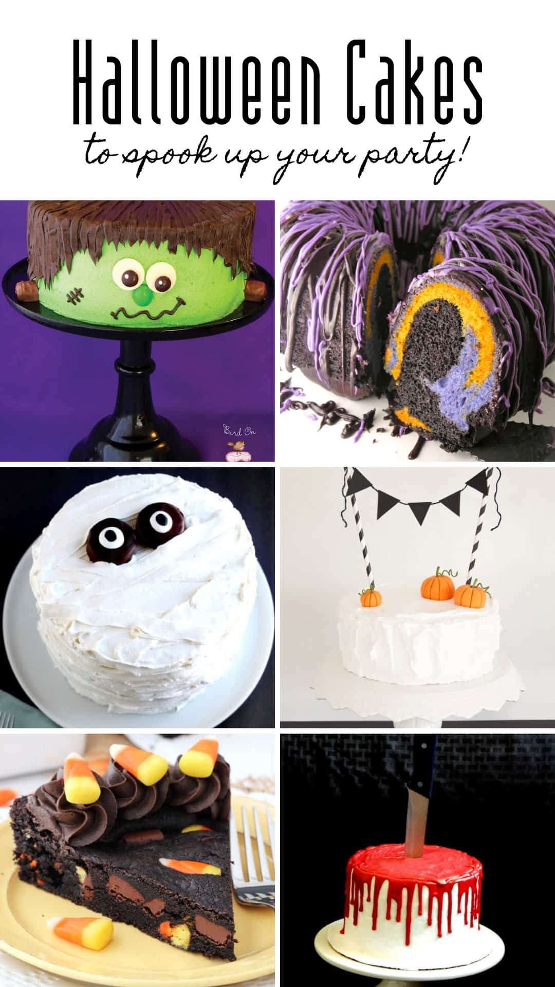 Wow - how AMAZING are these Halloween cake recipes? They are sure to be show stoppers at your party on October 31! #halloween