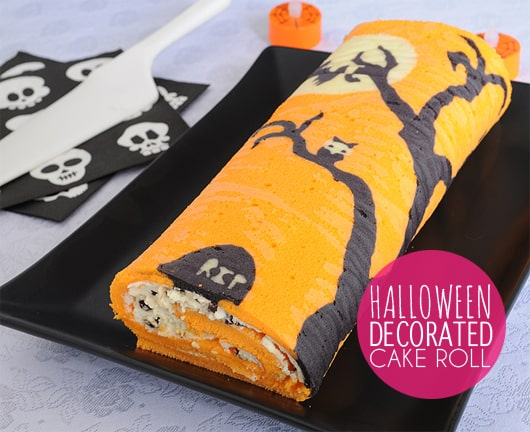 How to Make a Halloween Decorated Cake Roll