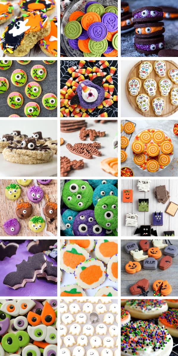 These Halloween cookies for kids are easy to make and fun to eat! #halloween #halloweentreats #halloweenparty #halloweencookies