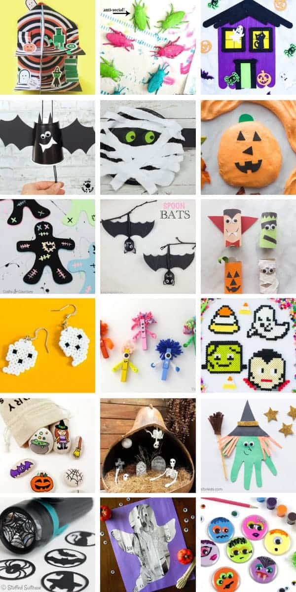 Loving these Halloween crafts for children - easy ideas for kids of all ages! #halloween #crafts