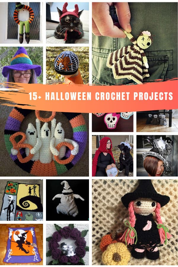 So many cute Halloween crochet projects to add to your list this month! #halloween #crochet #halloweencrochet
