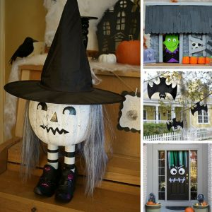 Loving these DIY Halloween decorations and I know the kids will too!