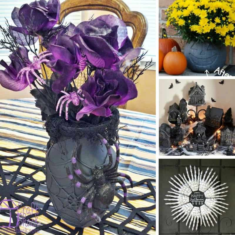 Loving these Halloween Dollar Store decor ideas - cheap and easy to make! Thanks for sharing!