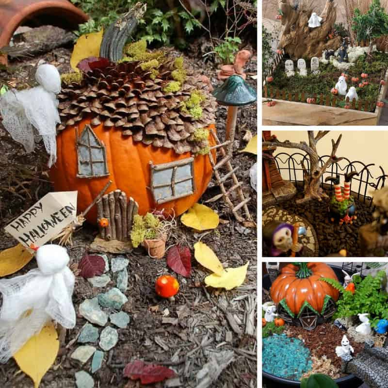 Loving these Halloween fairy garden ideas - we're going to get our spook on for our little fairy friends!