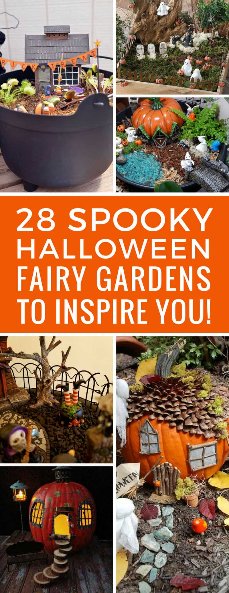 Loving these Halloween fairy gardens - we hadn't thought to decorate the fairy house for Halloween so now we're going to get our spook on! Thanks for sharing!