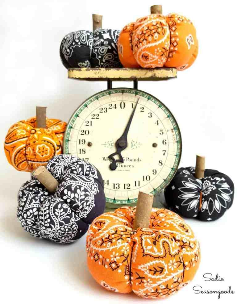 Halloween Fall Bandana Pumpkins