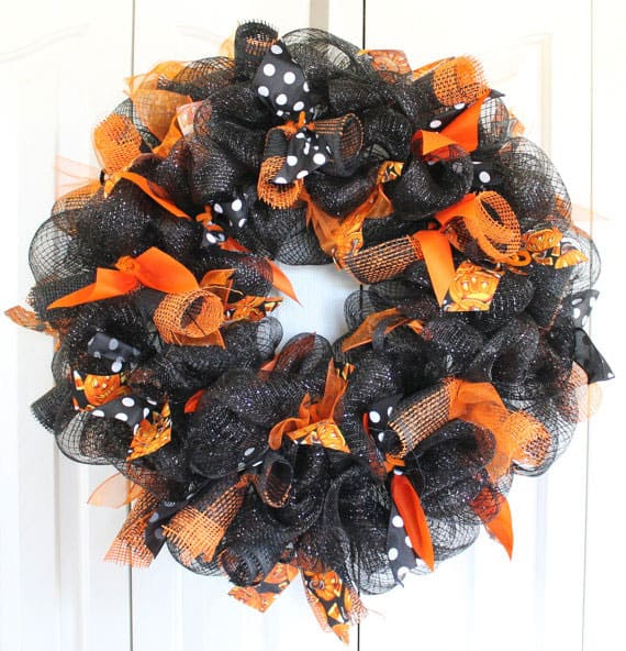 Halloween Large Deco Mesh Wreath