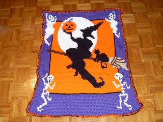 Halloween Throw Crochet Pattern