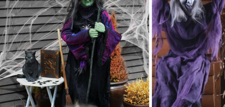 These spooky Halloween witch decorations are going to give my guests a fright! Thanks for sharing!