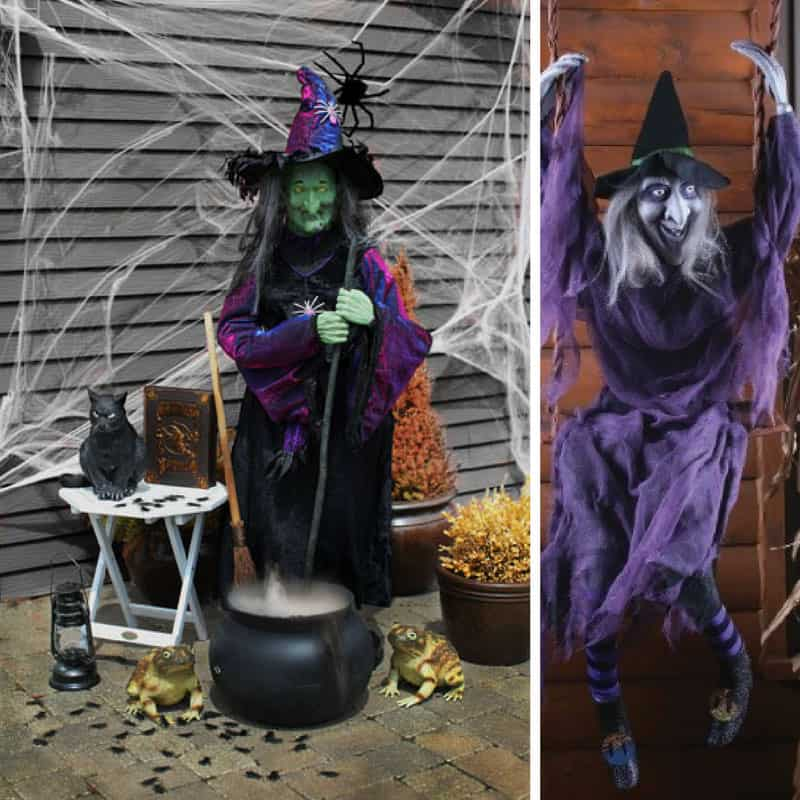 these spooky halloween witch decorations are going to give my guests a fright thanks for