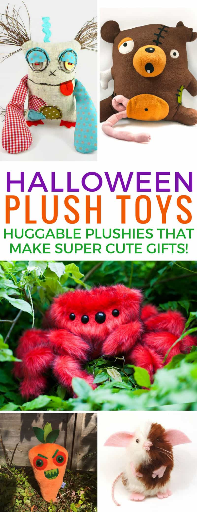 So many great plush Halloween toys to choose from - that spider is totally creepy! Thanks for sharing!