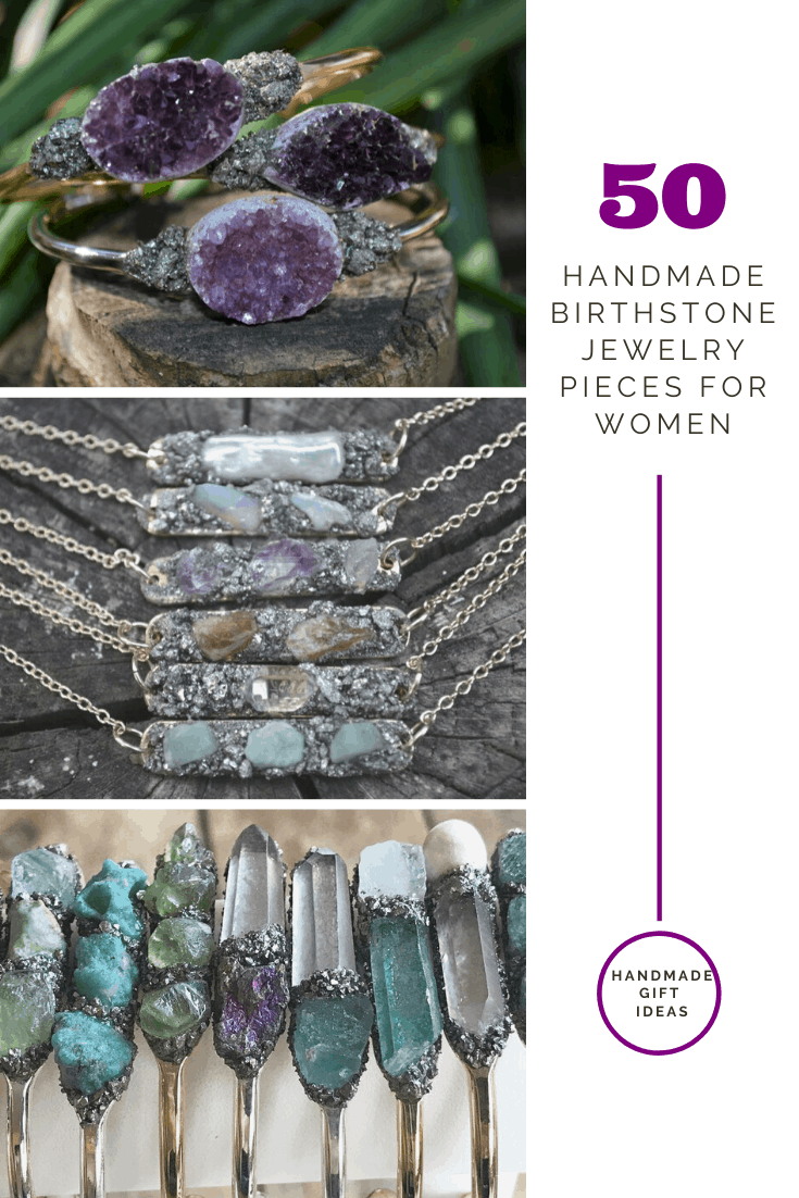 Wow! These handmade birthstone gemstone jewelery for women pieces are just stunning! The perfect thoughtful gift for a birthday or Christmas