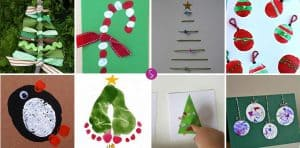 Adorable Homemade Christmas Cards for Kids to Make!