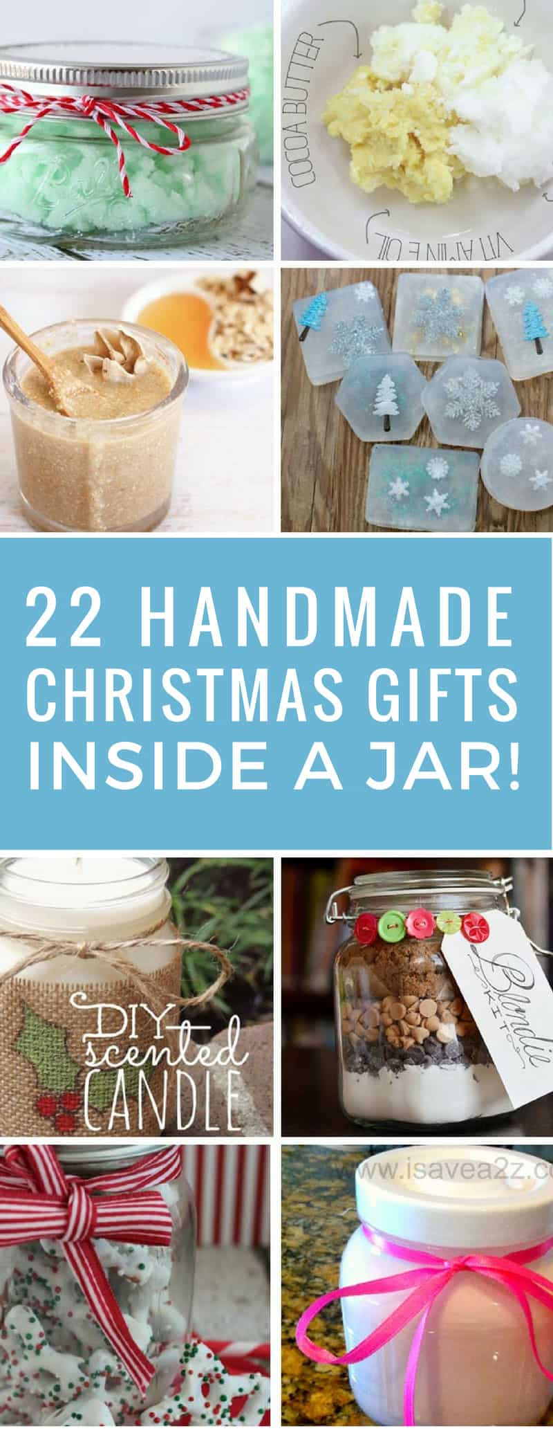 I needed some frugal gift ideas since we're on a tight budget this Christmas and these gifts in a jar were perfect! They're unique and thoughtful so no one will think about how much they cost!