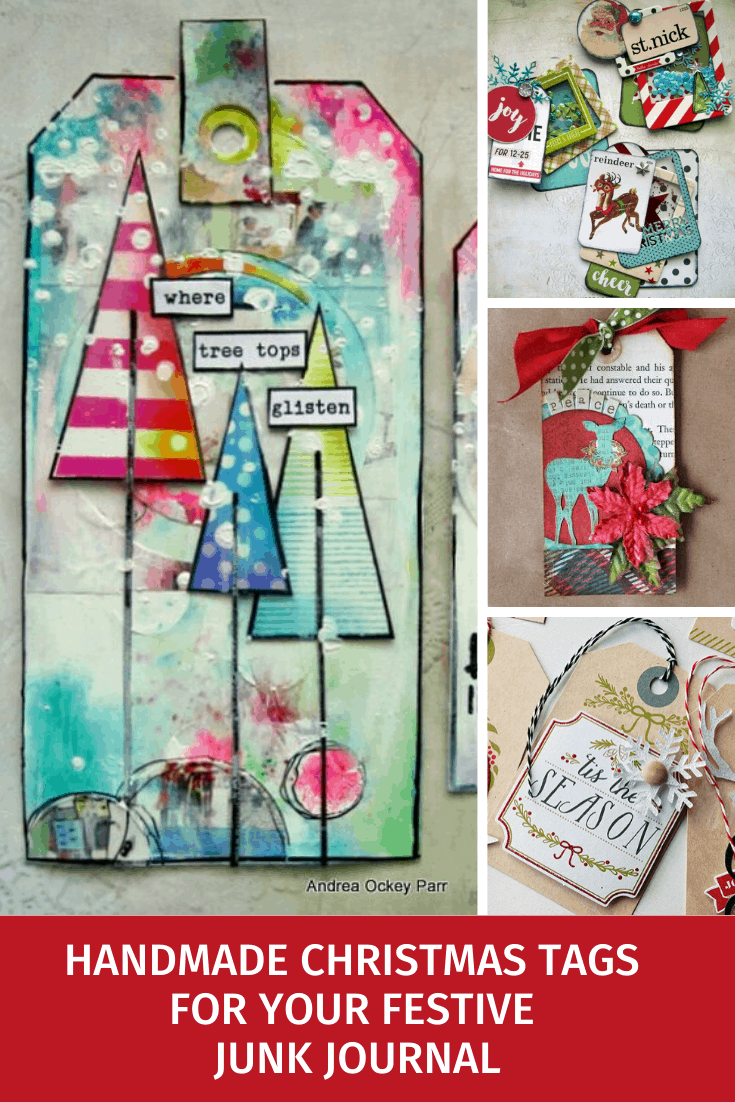Loving these Christmas tags for my junk journal - so many different styles to try from vintage to mixed media.