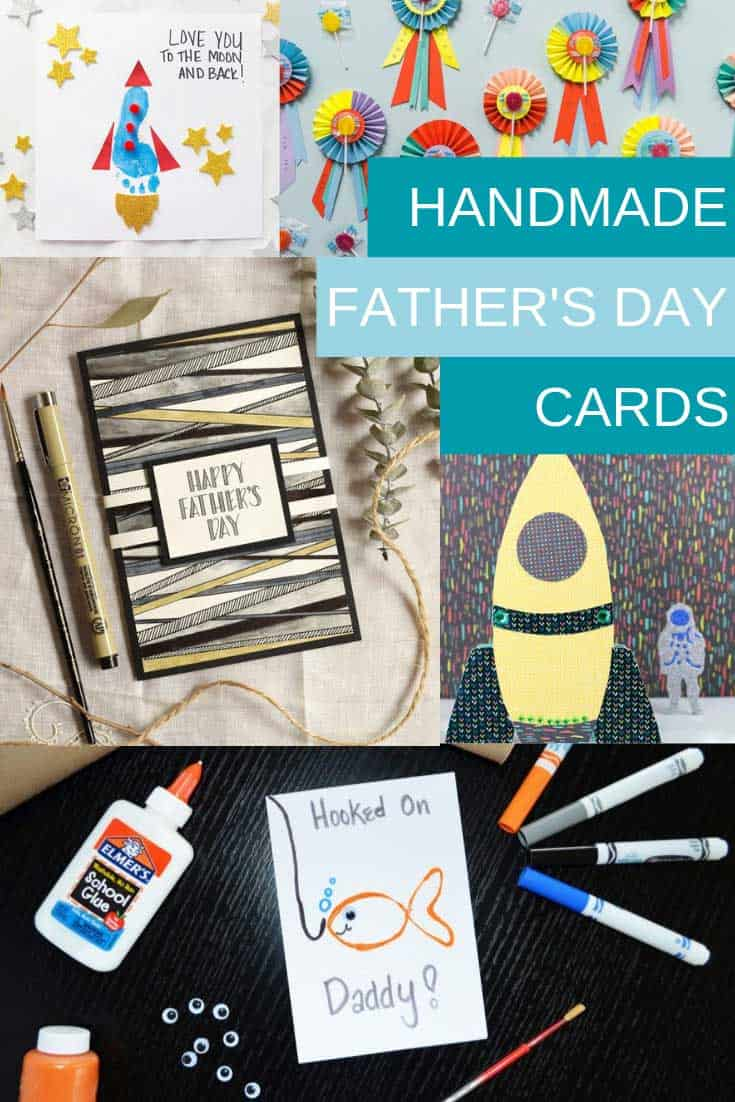 These handmade Father's day cards are fabulous! Don't miss the footprint craft that's perfect for dad's first Father's Day!
