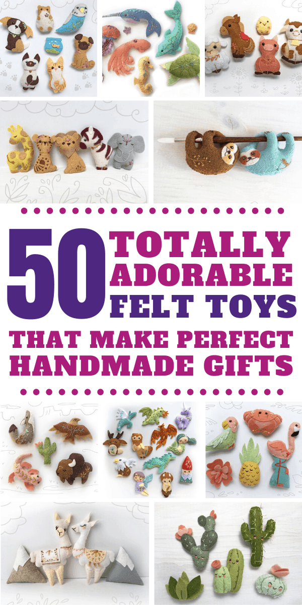 These handmade felt toy patterns are gorgeous - and the perfect gift for all ages!