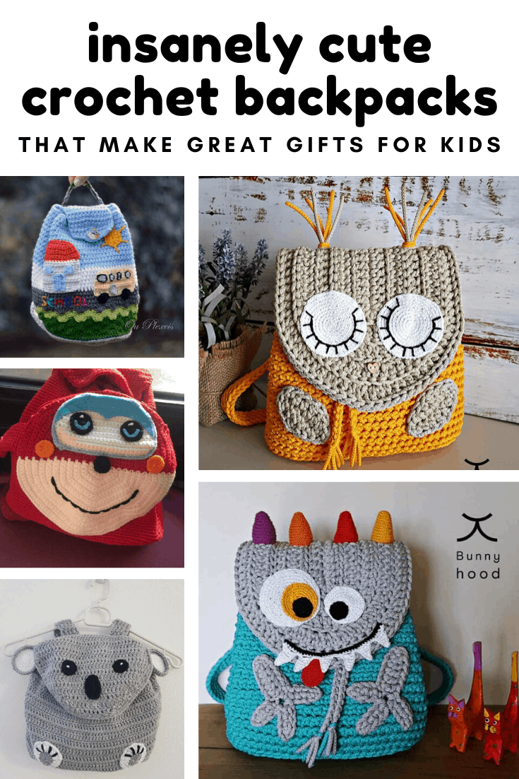 If you're looking for handmade gift ideas for a child you can't go wrong with these adorable backpacks!