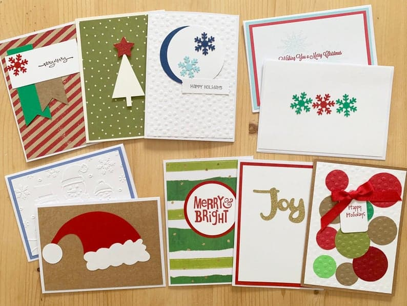 Assorted Handmade Christmas Cards