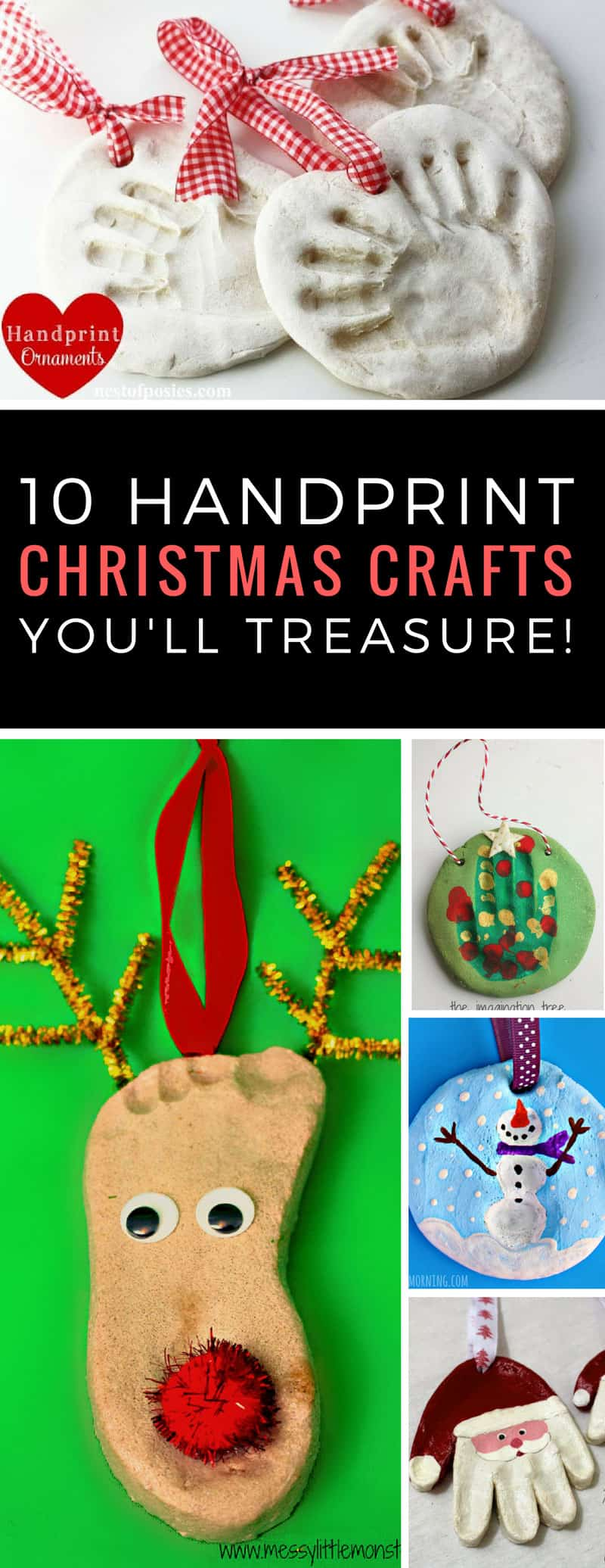 These handprint and footprint Christmas ornaments are so adorable - the kids will love making them and Granny will treasure them! Thanks for sharing!