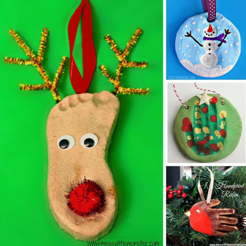 10 Super Sweet Salt Dough Kid's Handprint Christmas Crafts to Treasure Forever!