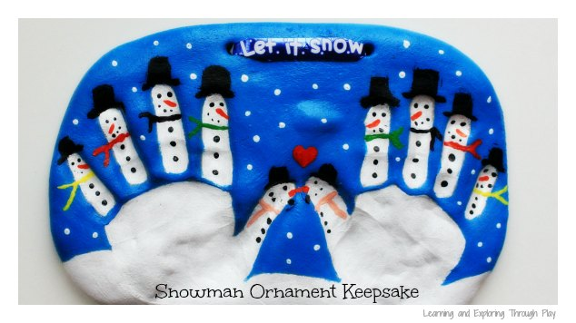 Salt Dough Snowman Keepsake for Kids to Make
