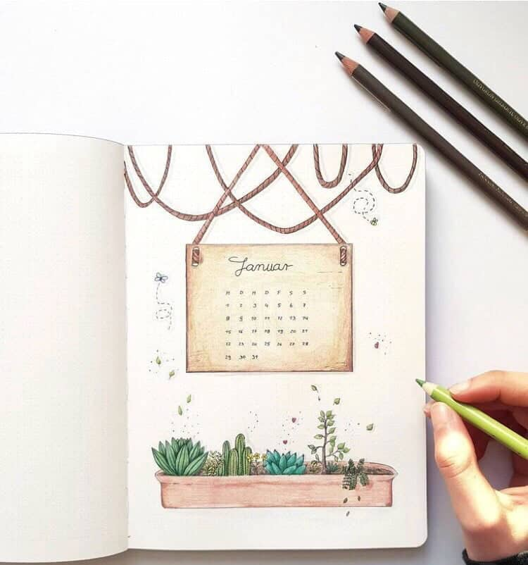 Hanging Calendar January Cover Page