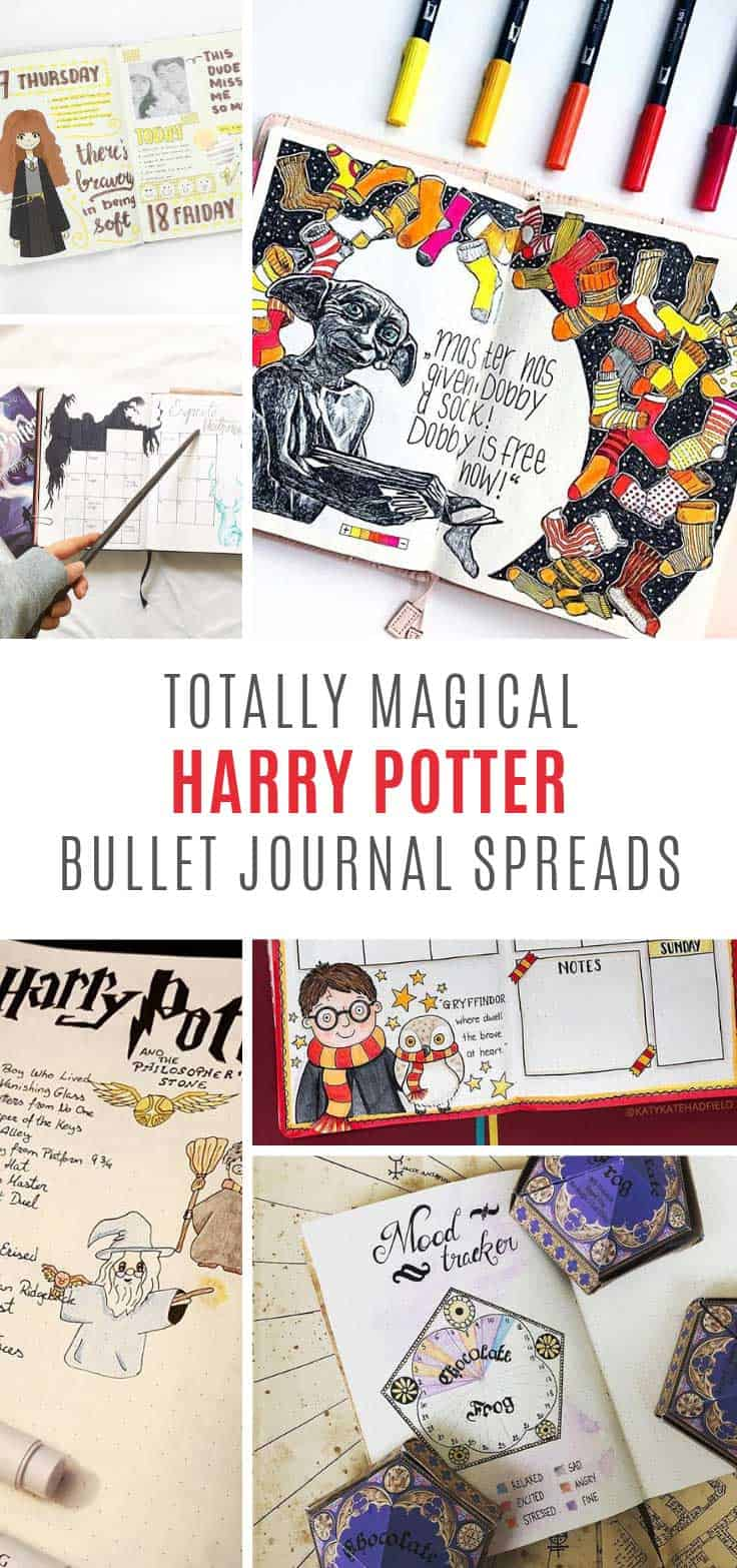These Harry Potter bullet journal spreads are MAGICAL!