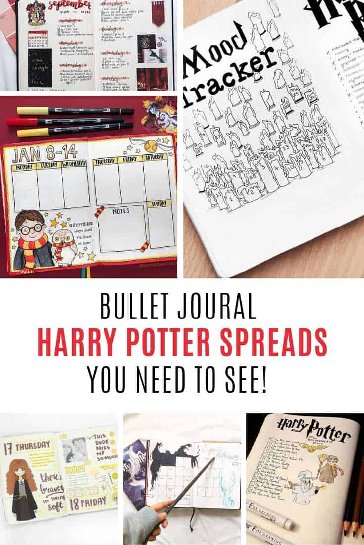 You need to see these Harry Potter bullet journal themes!