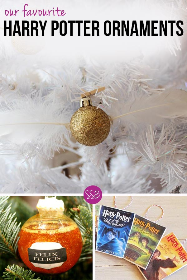 How amazing are these DIY Harry Potter Christmas Ornaments? The snitch is beautiful and I love the potions!