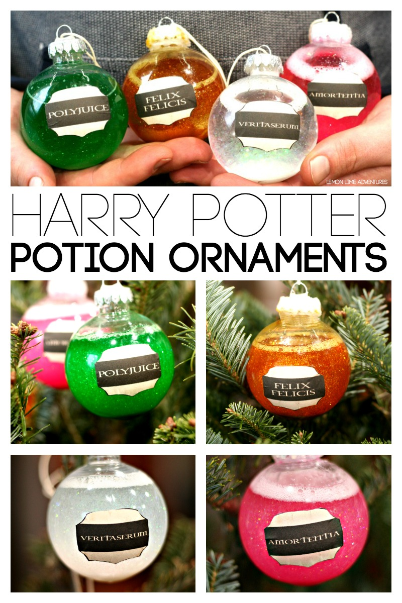 How amazing are these potion ornaments? They will look amazing twinkling away on the tree, I think the Polyjuice on is my favourite!