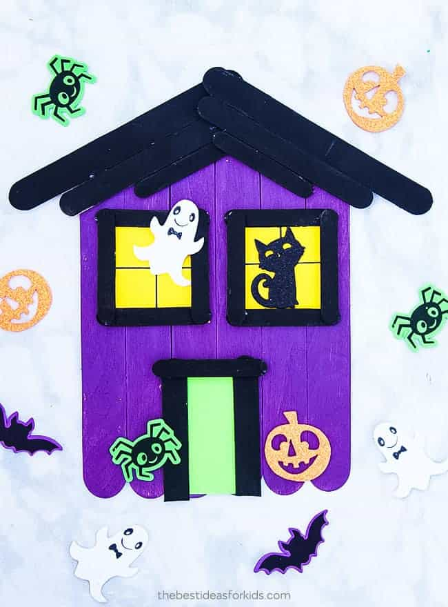 Haunted House Popsicle Stick Craft