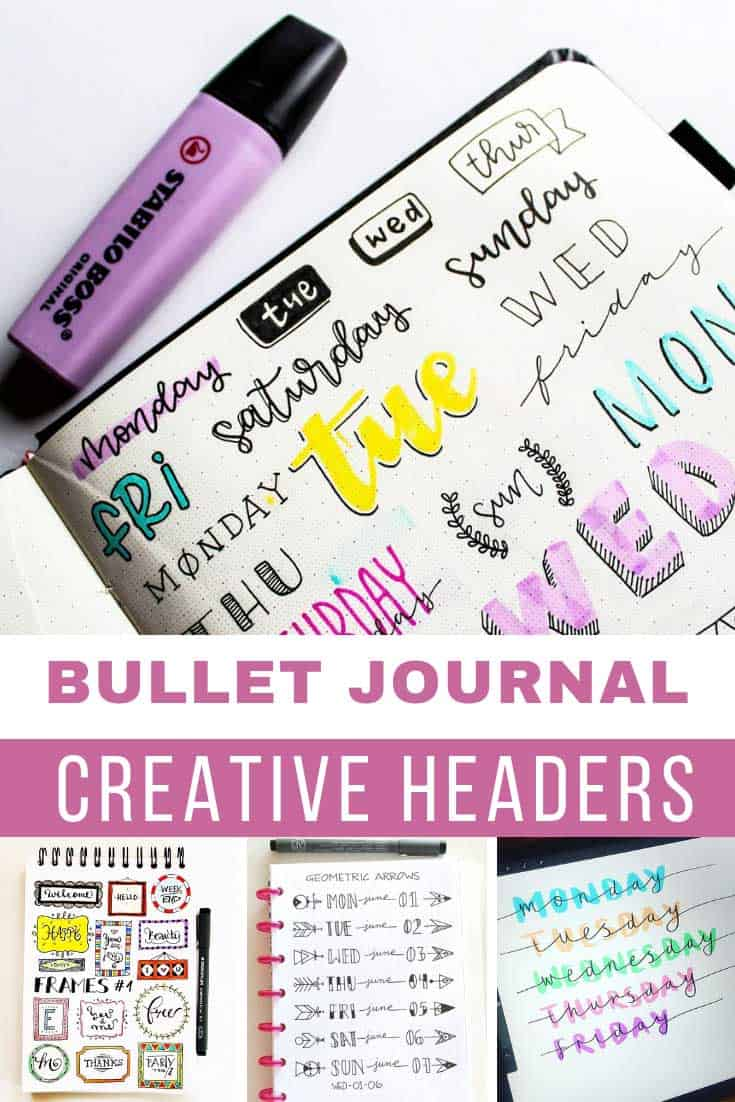 These bullet journal header ideas are so creative and just what i need to bring my journal to life!
