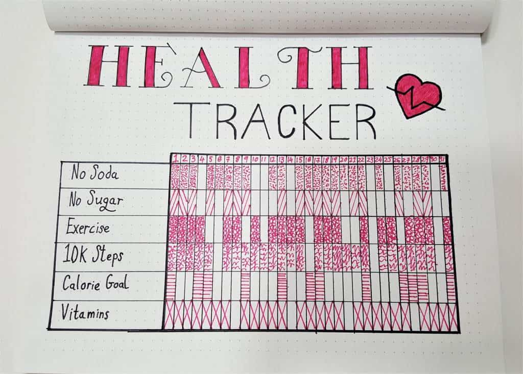 Health Tracker Bullet Journal