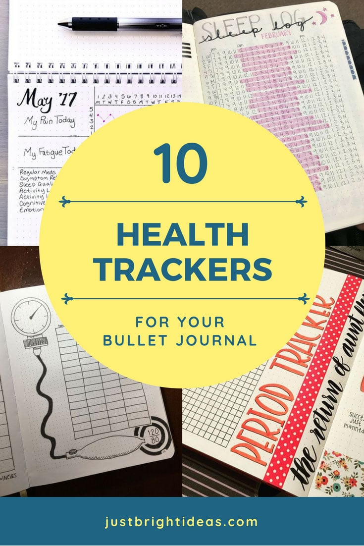 Health Trackers for your Bullet Journal