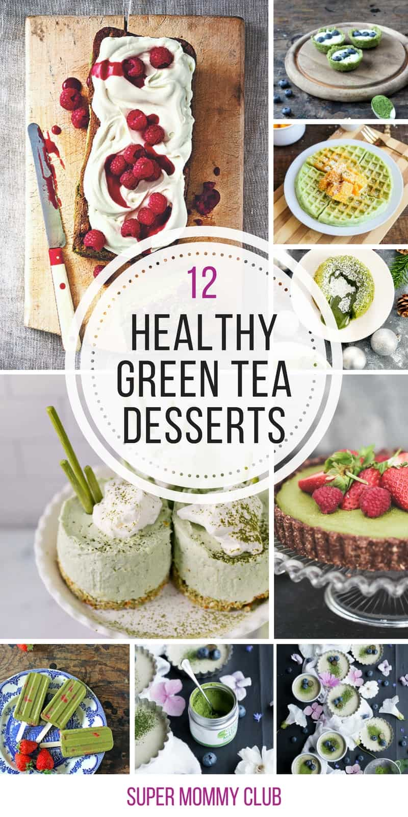 Matcha green tea is my current favourite drink - can't wait to try some of these green desserts!