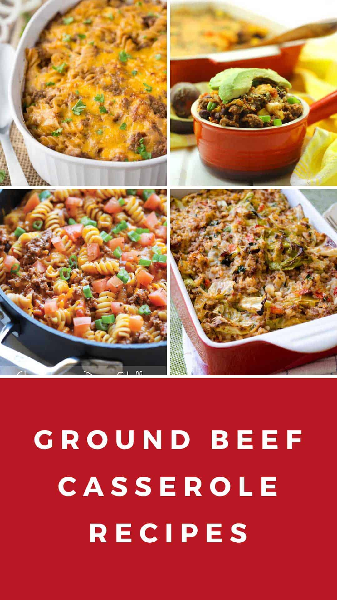 Yum! These ground beef casseroles are perfect for your weekly meal plan - kid approved too!