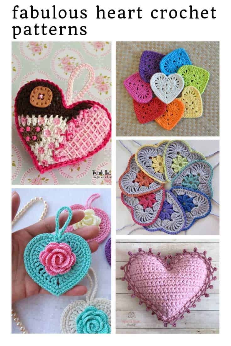 These heart crochet tutorials are super sweet and the hearts can be used in so many craft projects!