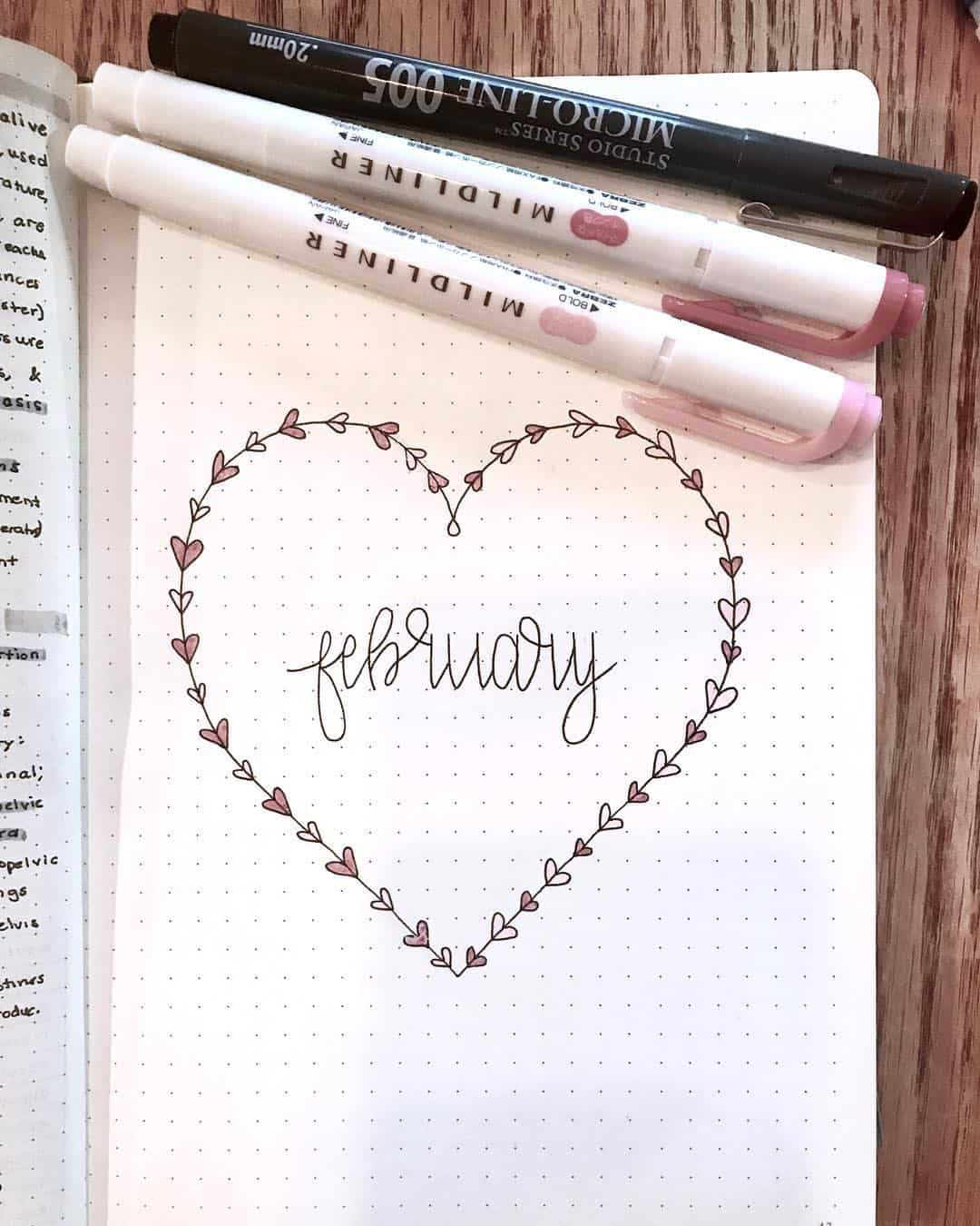 Heart Doodle February Cover Page
