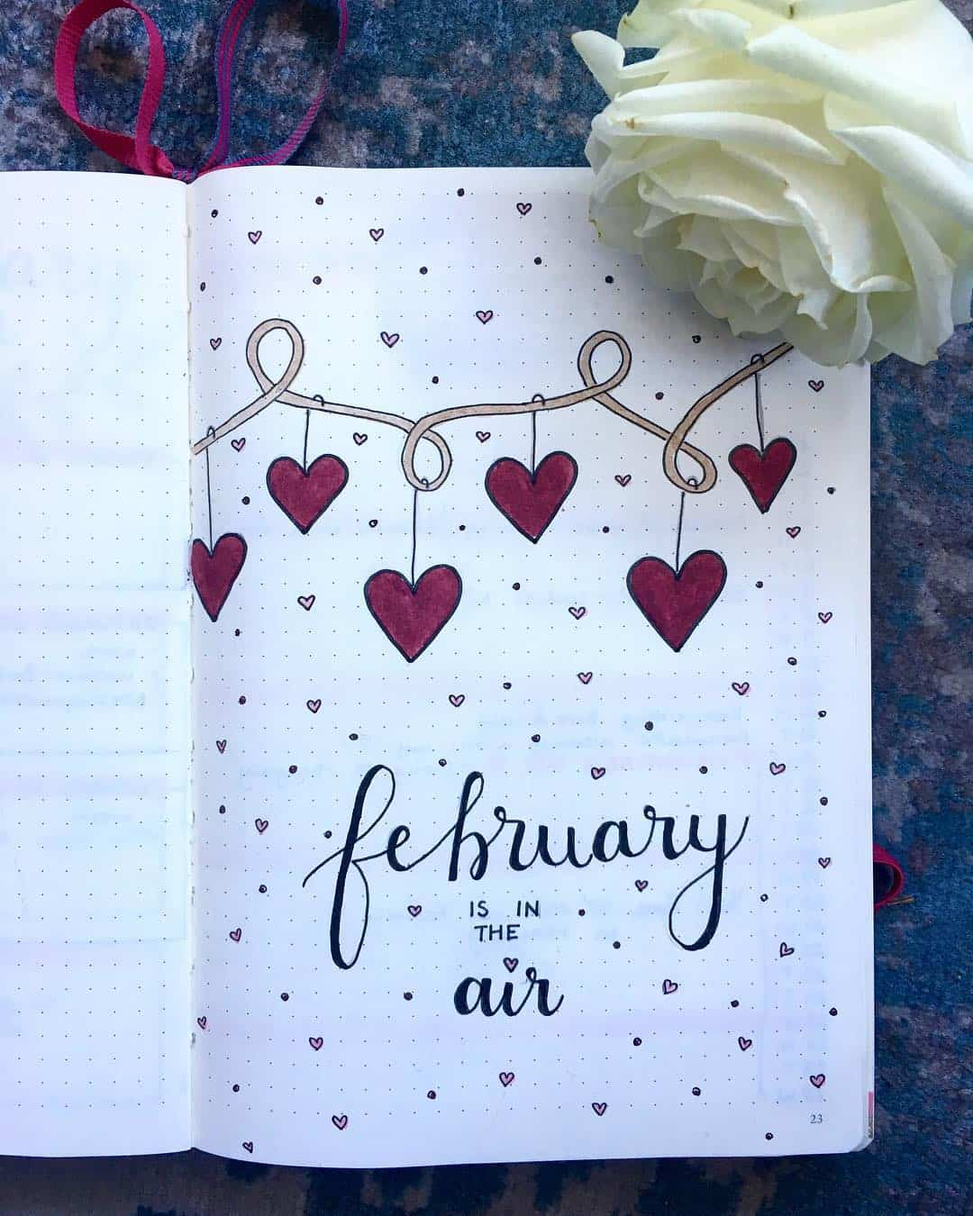 Heart Garland February Cover Page