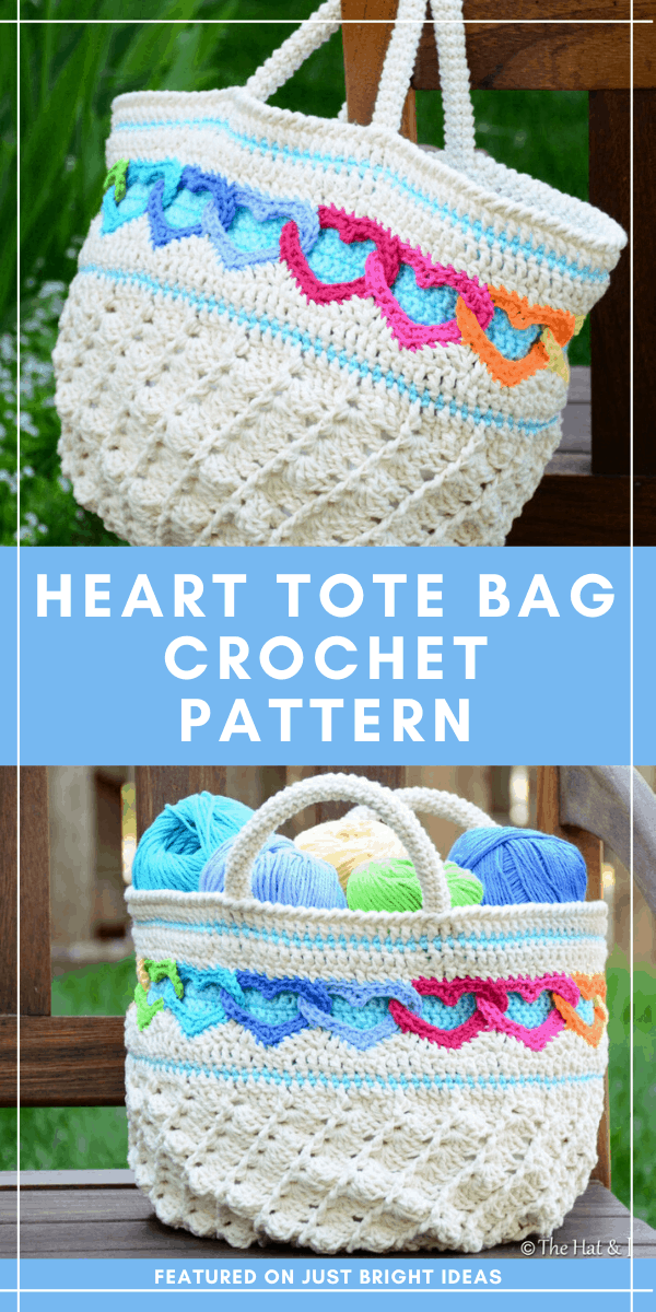Do you need some more storage? Or a cute bag for the beach? Check out these linked heart crochet pattern because it's the perfect solution!