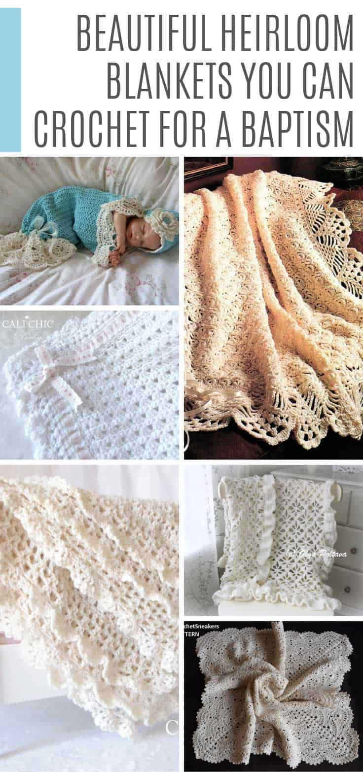 Crochet an heirloom baby blanket that will be passed down through the generations. The traditional lace designs are perfect for baptisms and christenings.