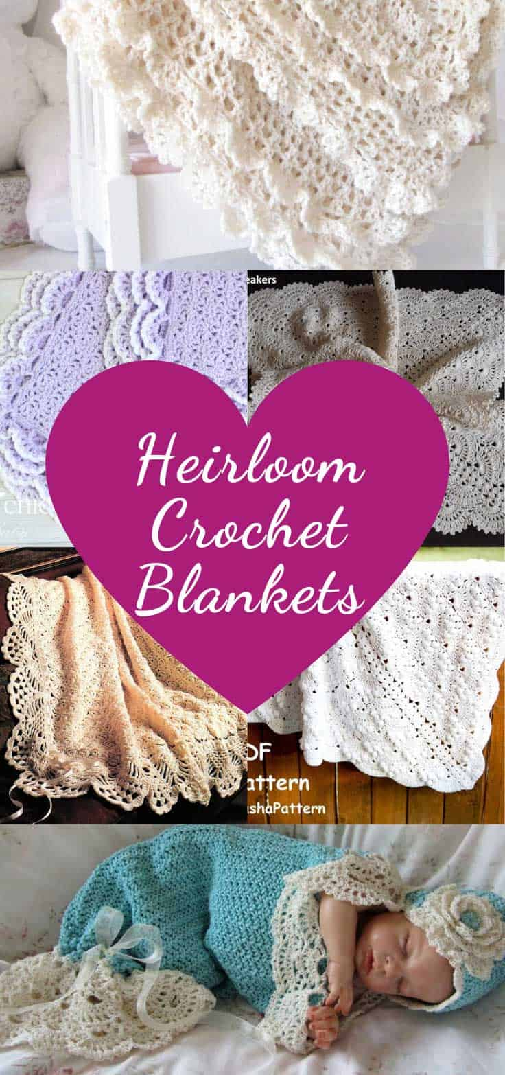 These beautiful heirloom crochet blankets are perfect for wrapping up baby for their baptism or christening. With their traditional lace styles they will be treasured for years