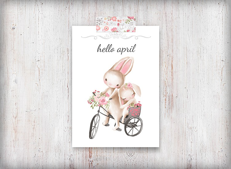 Hello April Bunny Printable