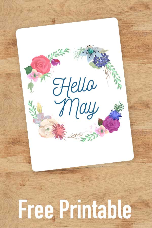 Welcome May with this pretty floral cover page. #bulletjournal #printable