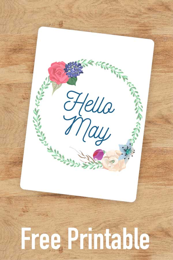 Welcome in May with this pretty floral bullet journal cover page