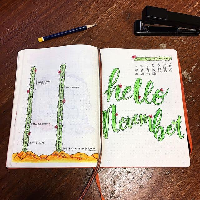 Hello November cactus cover page