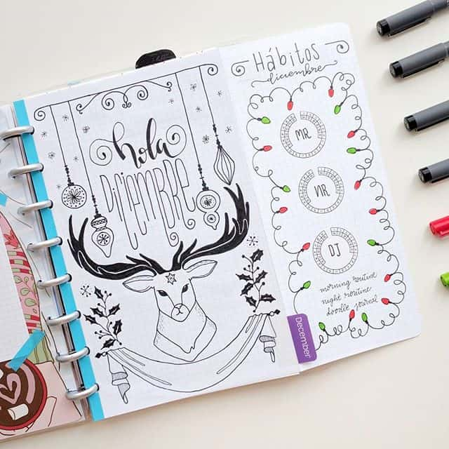 Hola December Reindeer Cover Page