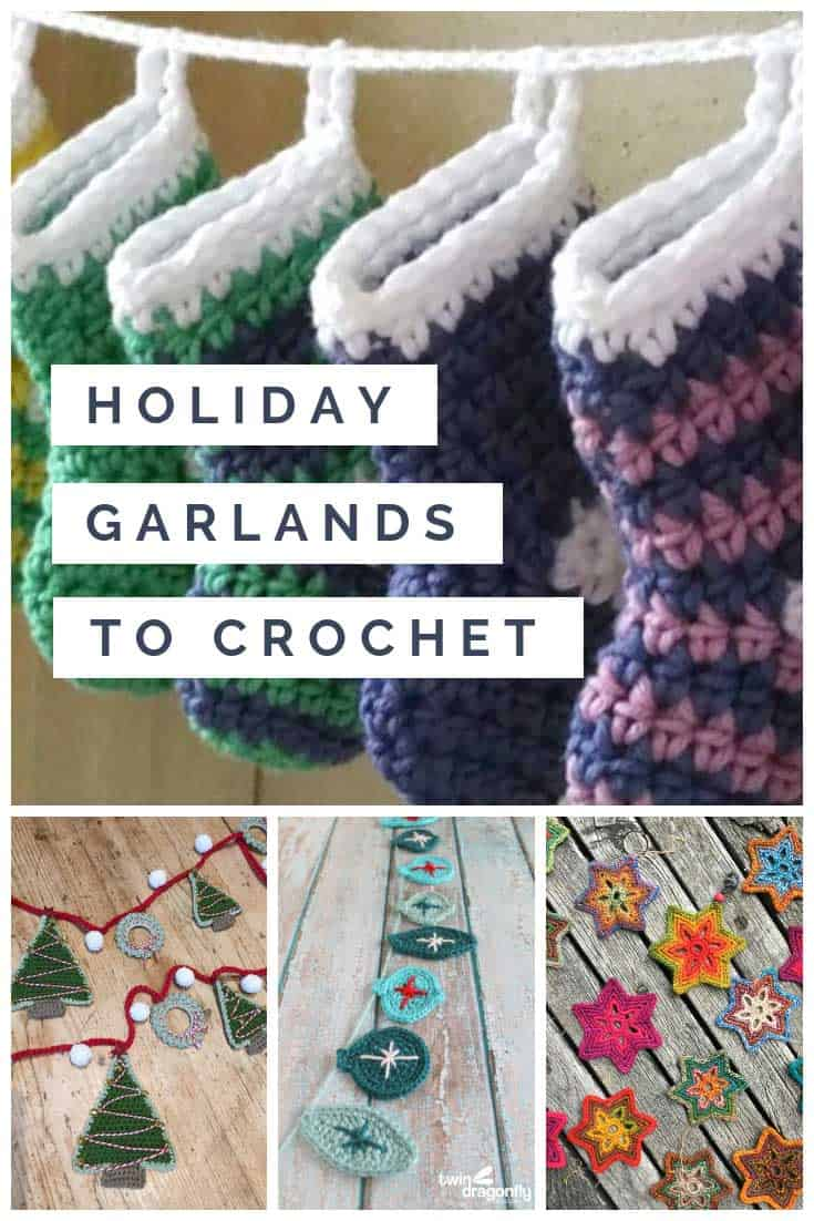 Who knew there were so many cute Holiday garlands to crochet at Christmas!